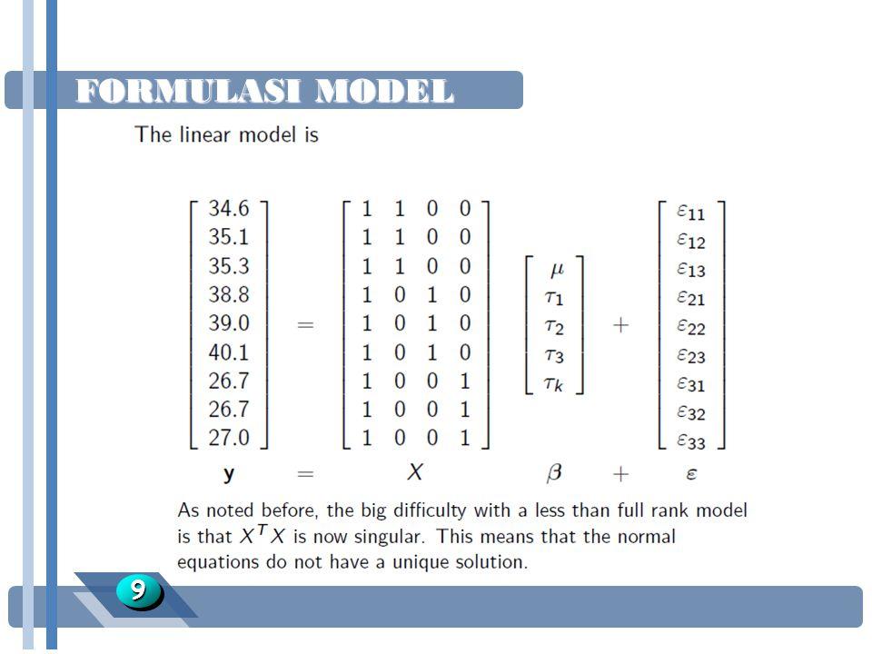 FORMULASI MODEL 9