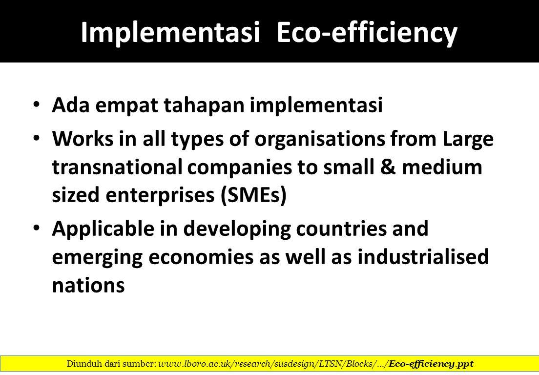 Implementasi Eco-efficiency