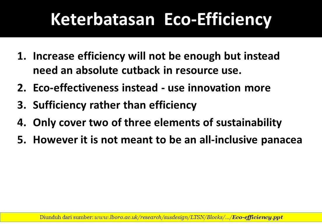 Keterbatasan Eco-Efficiency
