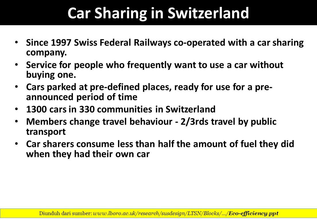 Car Sharing in Switzerland