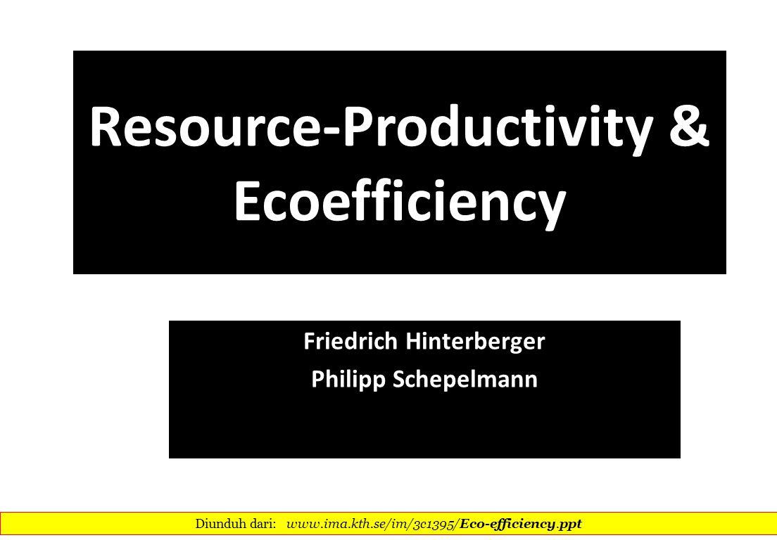 Resource-Productivity & Ecoefficiency