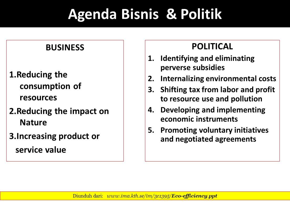 Agenda Bisnis & Politik