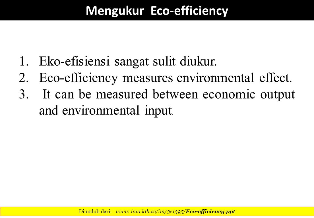 Mengukur Eco-efficiency