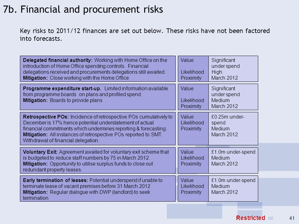 7b. Financial and procurement risks