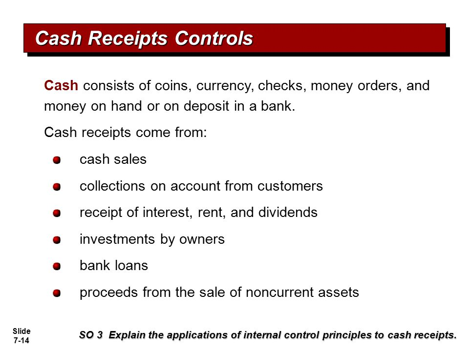 Cash Receipts Controls