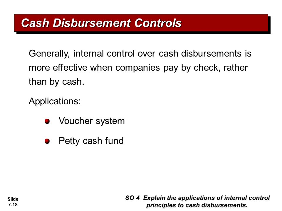 Cash Disbursement Controls