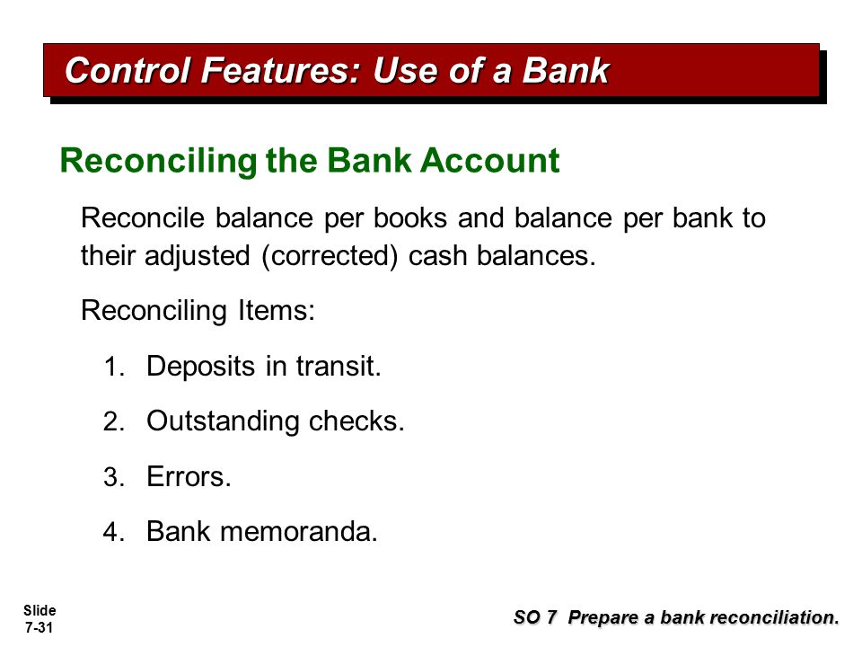 Control Features: Use of a Bank