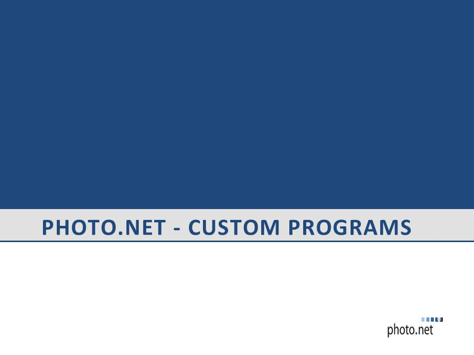 Photo.net - Custom Programs