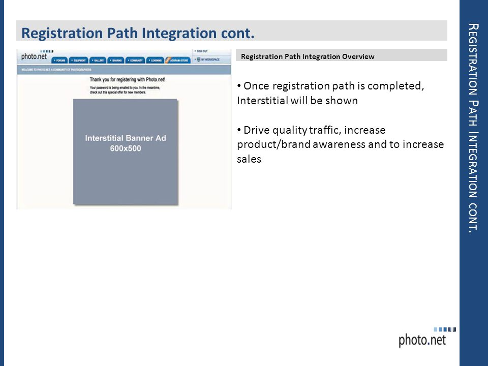 Registration Path Integration cont.