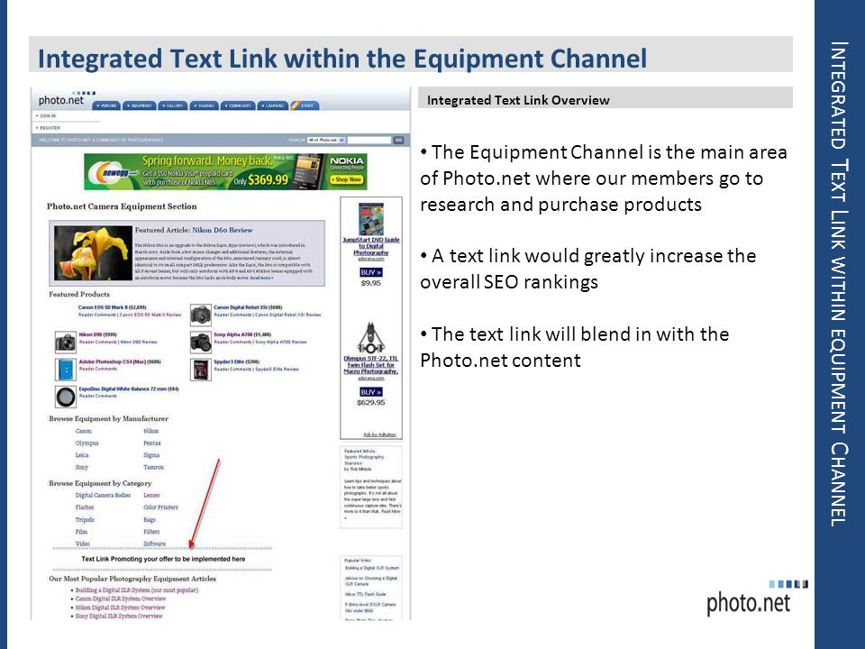 Integrated Text Link within equipment Channel