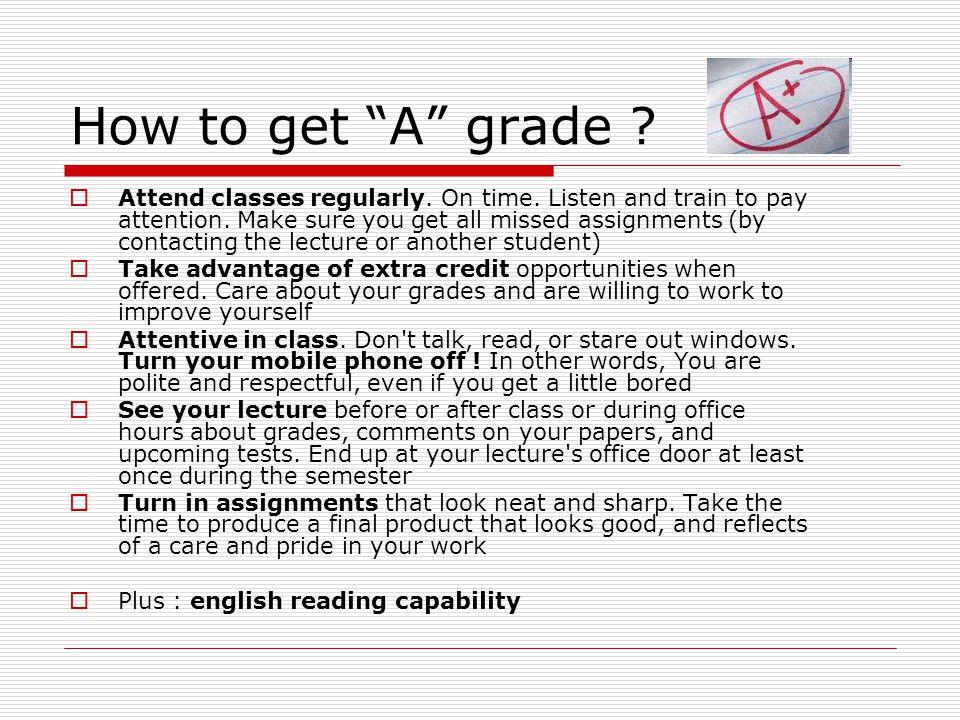 How to get A grade