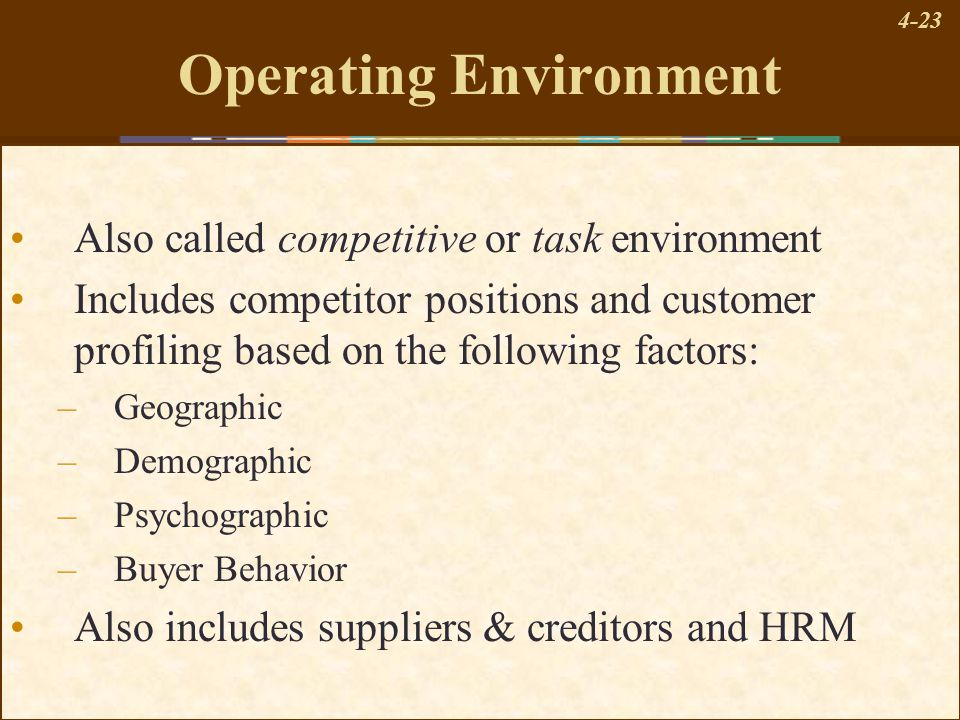 the remote industry and external operating environments Home depot environmental analysis an organizations external environment consists of three interrelated sets of factors  the second factor is industry environment.