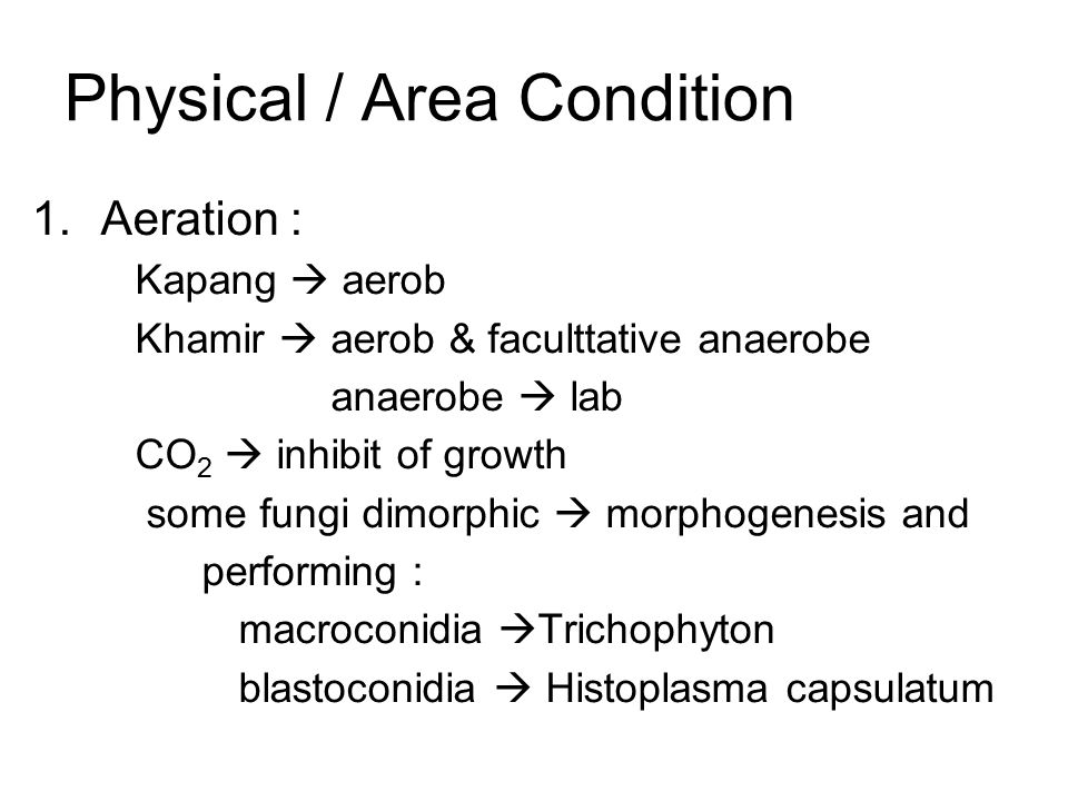Physical / Area Condition