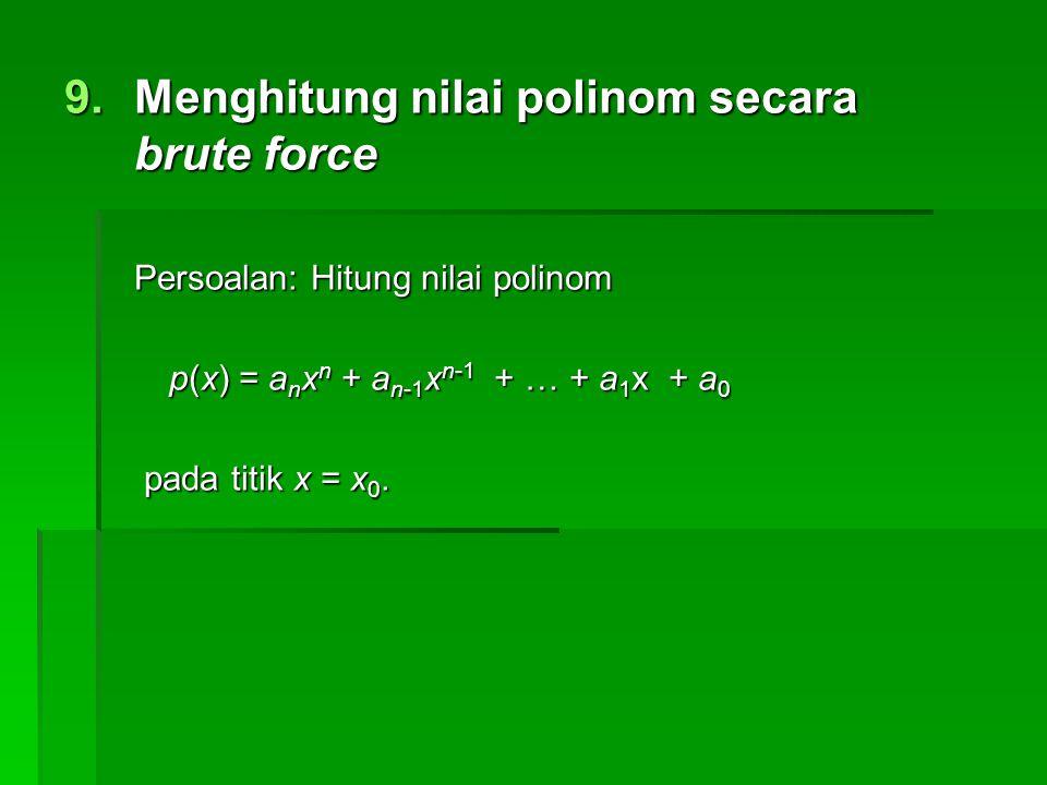 Menghitung nilai polinom secara brute force