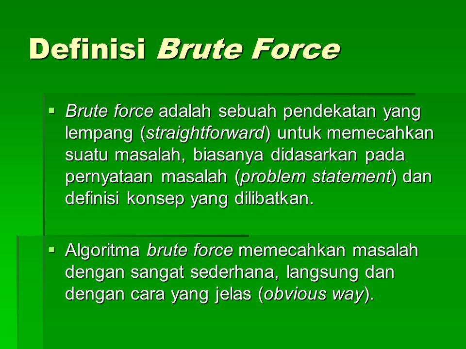 Definisi Brute Force