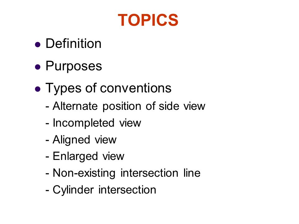 TOPICS Definition Purposes