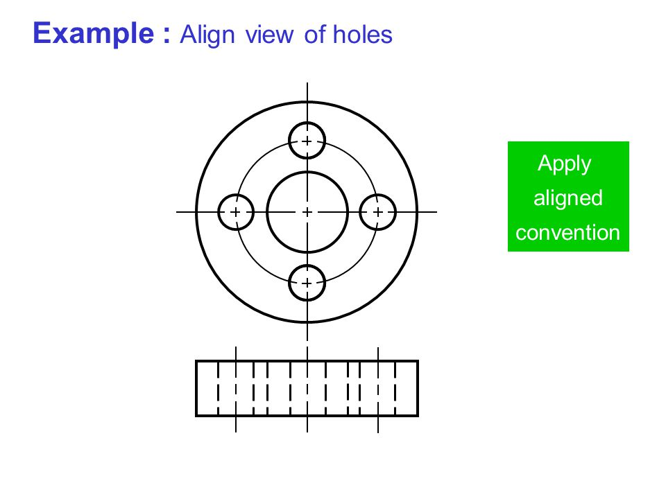 Example : Align view of holes