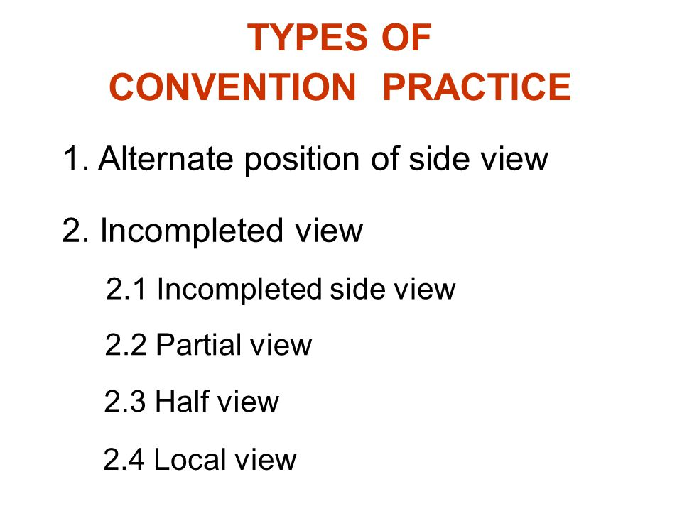 TYPES OF CONVENTION PRACTICE