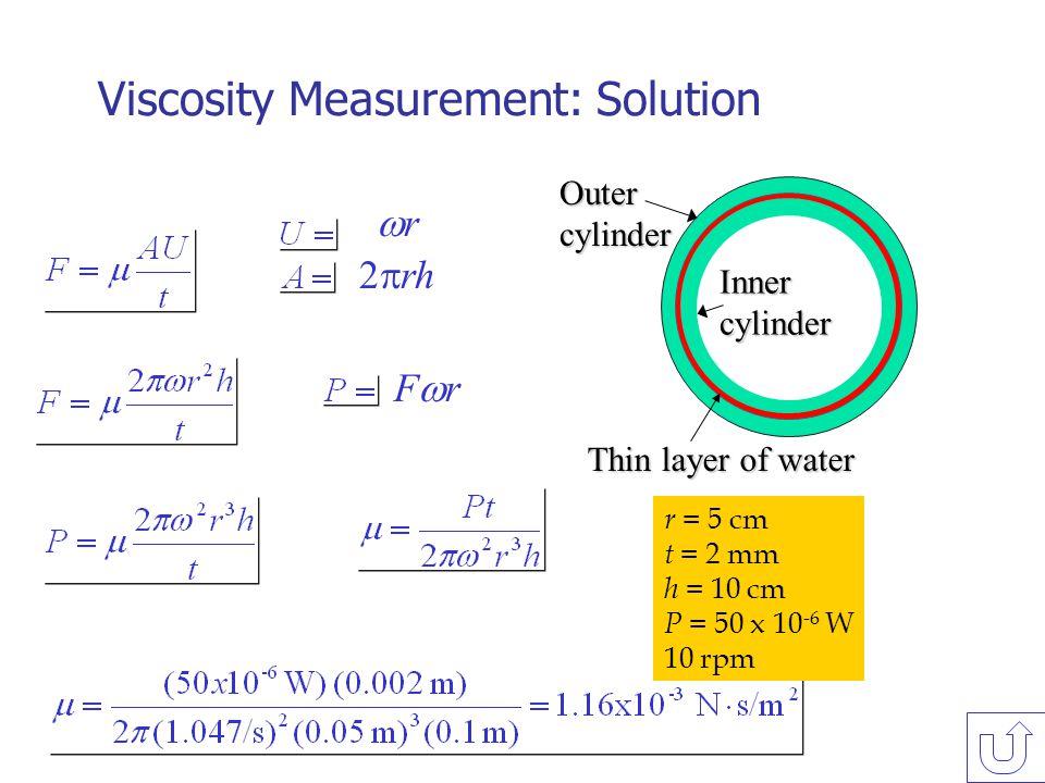 Viscosity Measurement: Solution