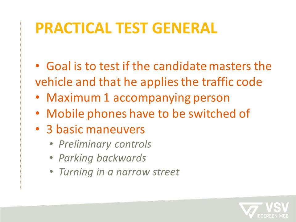 practical test general