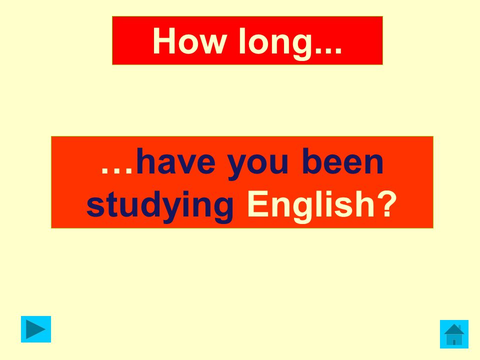 …have you been studying English
