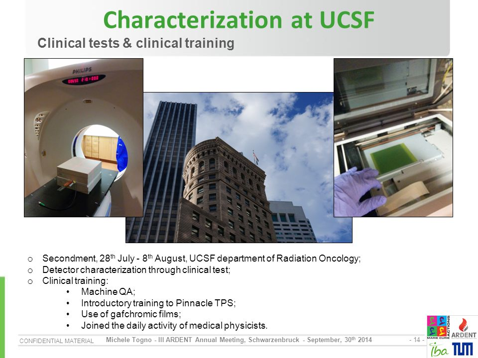 Characterization at UCSF
