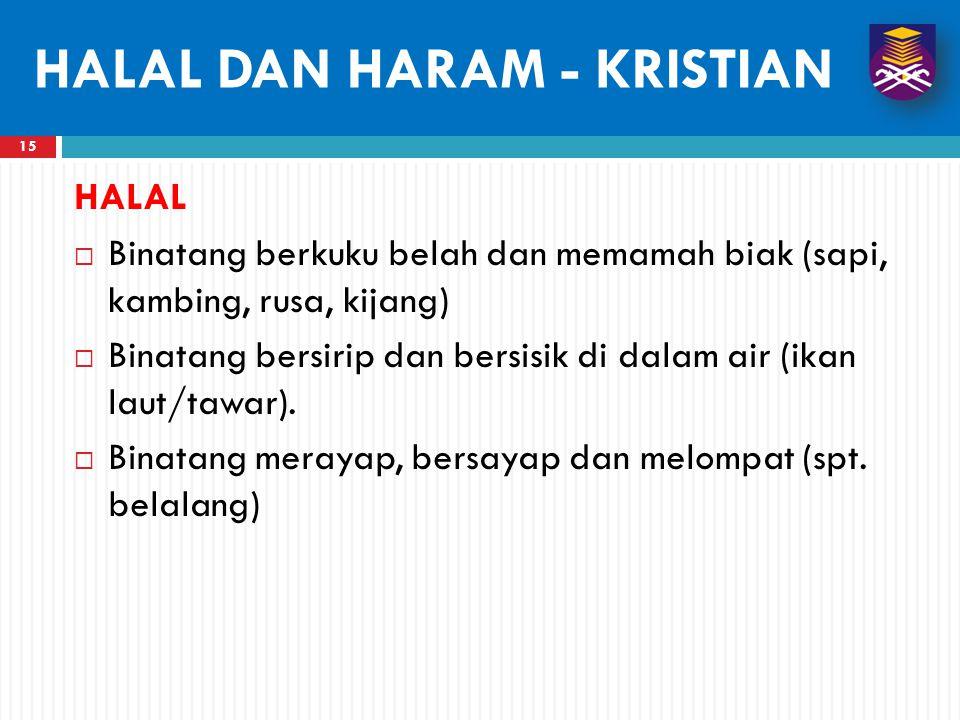 HALAL DAN HARAM - KRISTIAN