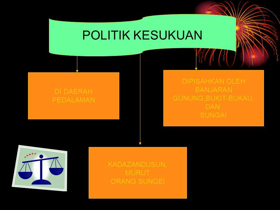 POLITIK KESUKUAN DIPISAHKAN OLEH BANJARAN DI DAERAH