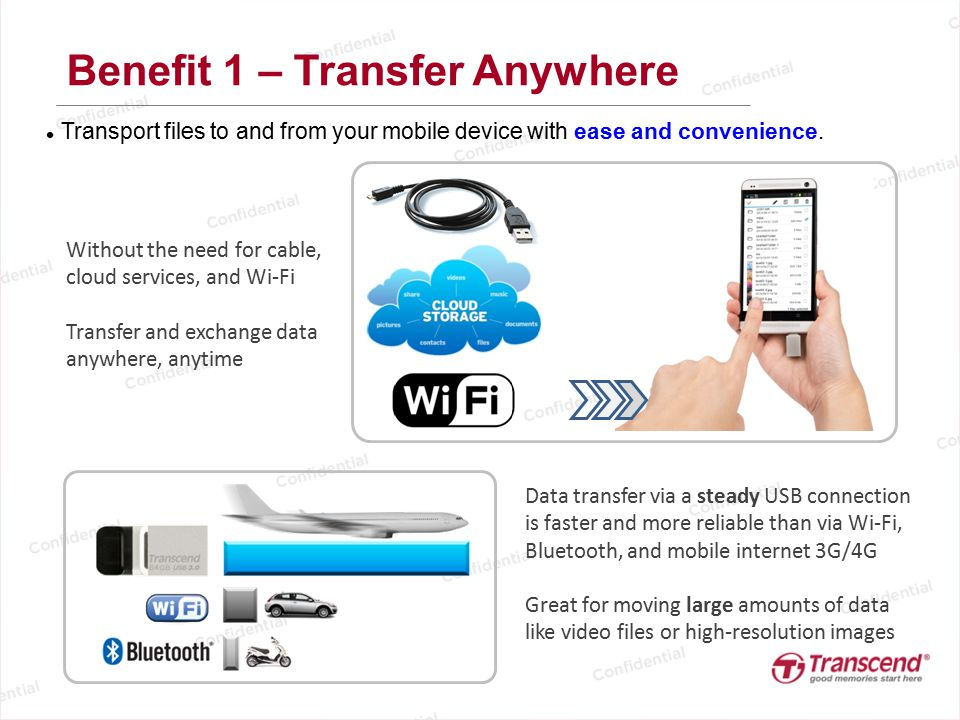 Benefit 1 – Transfer Anywhere