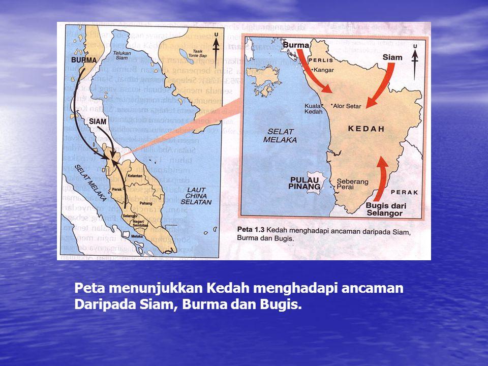 Peta menunjukkan Kedah menghadapi ancaman