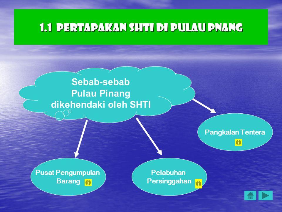 1.1 Pertapakan SHTI di Pulau Pnang
