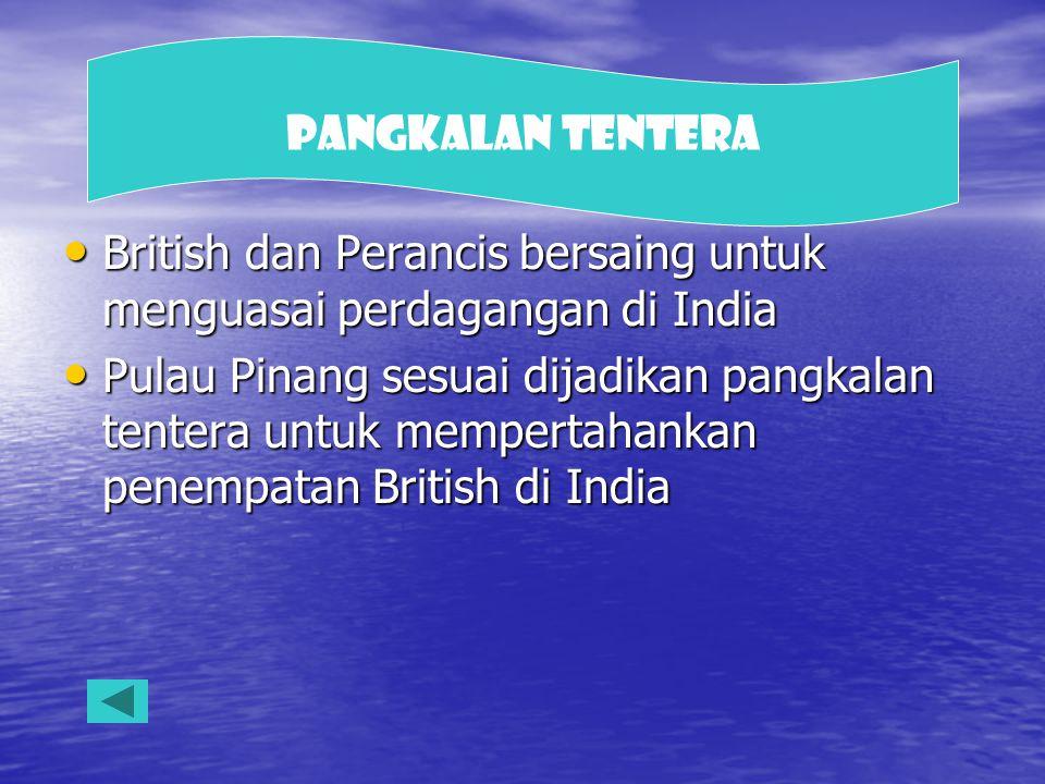 Pangkalan Tentera British dan Perancis bersaing untuk menguasai perdagangan di India.