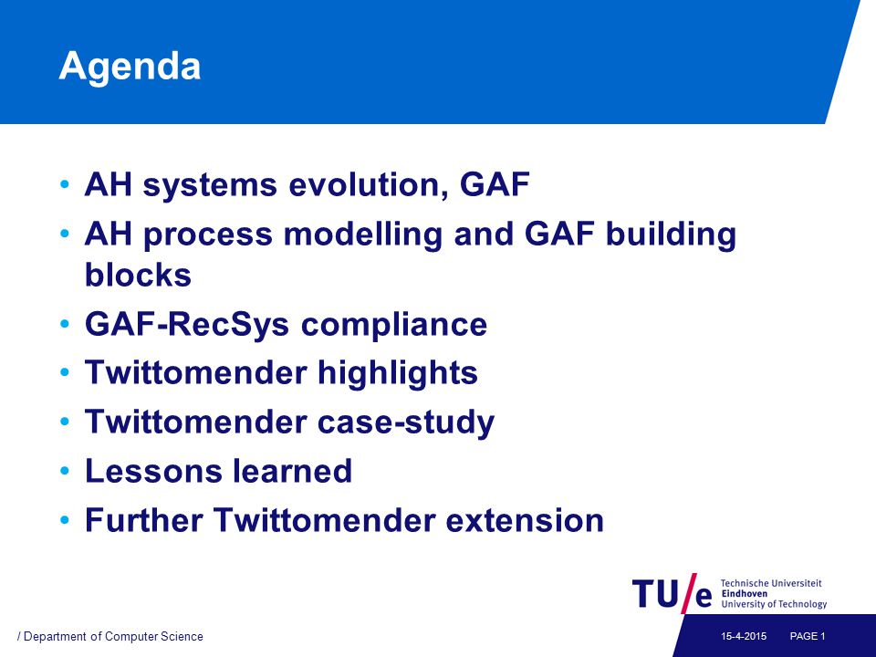 AH Systems and GAF Generalize AHS functionality in GAF reference model