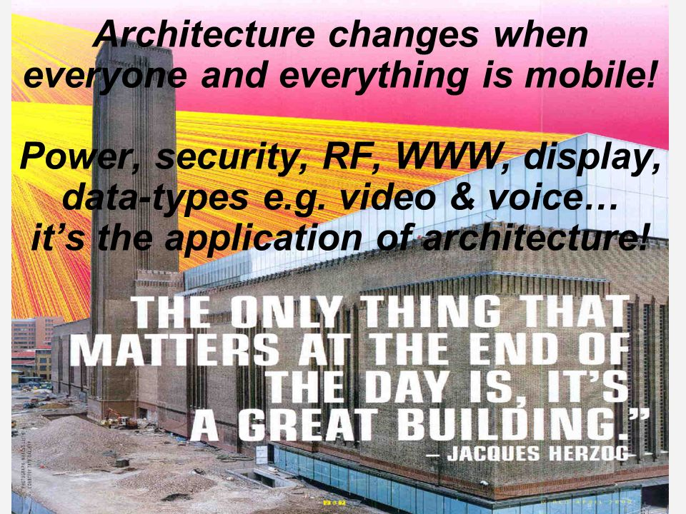 Architecture changes when everyone and everything is mobile