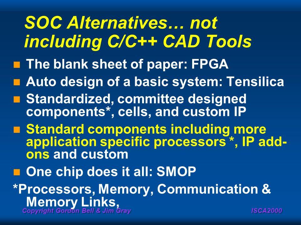 SOC Alternatives… not including C/C++ CAD Tools