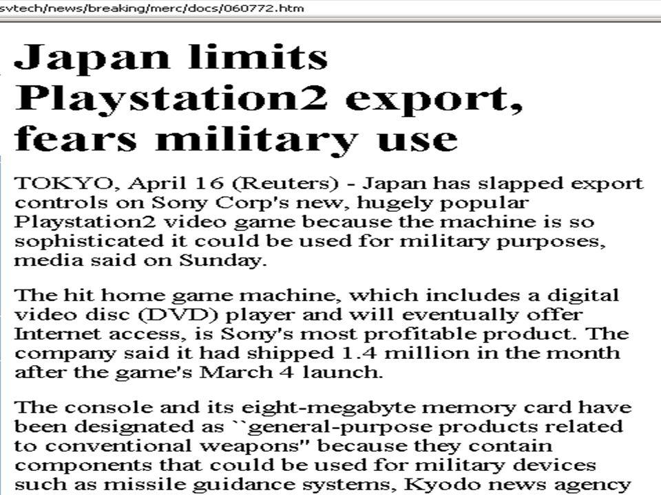 Sony Playstation export limiits