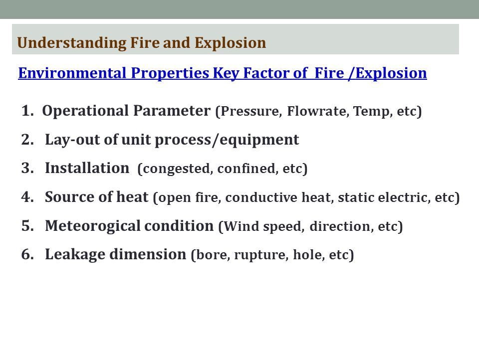 Understanding Fire and Explosion