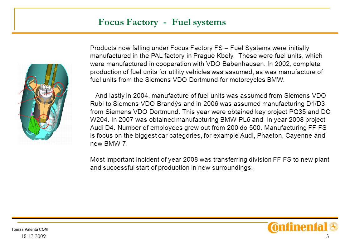 Focus Factory - Fuel systems