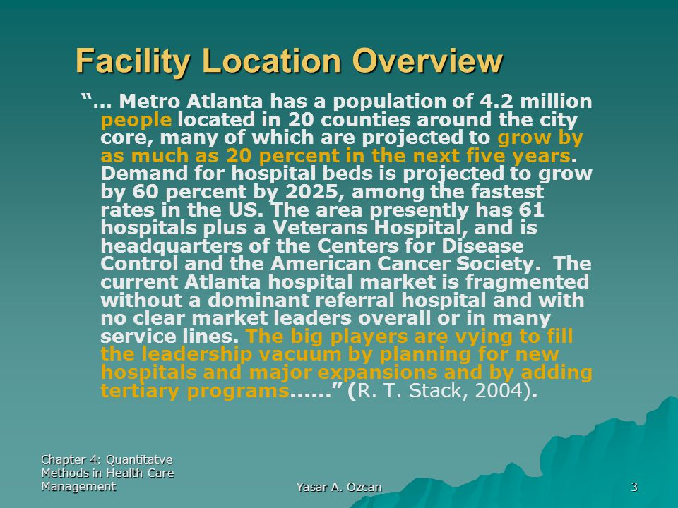 Facility Location Overview