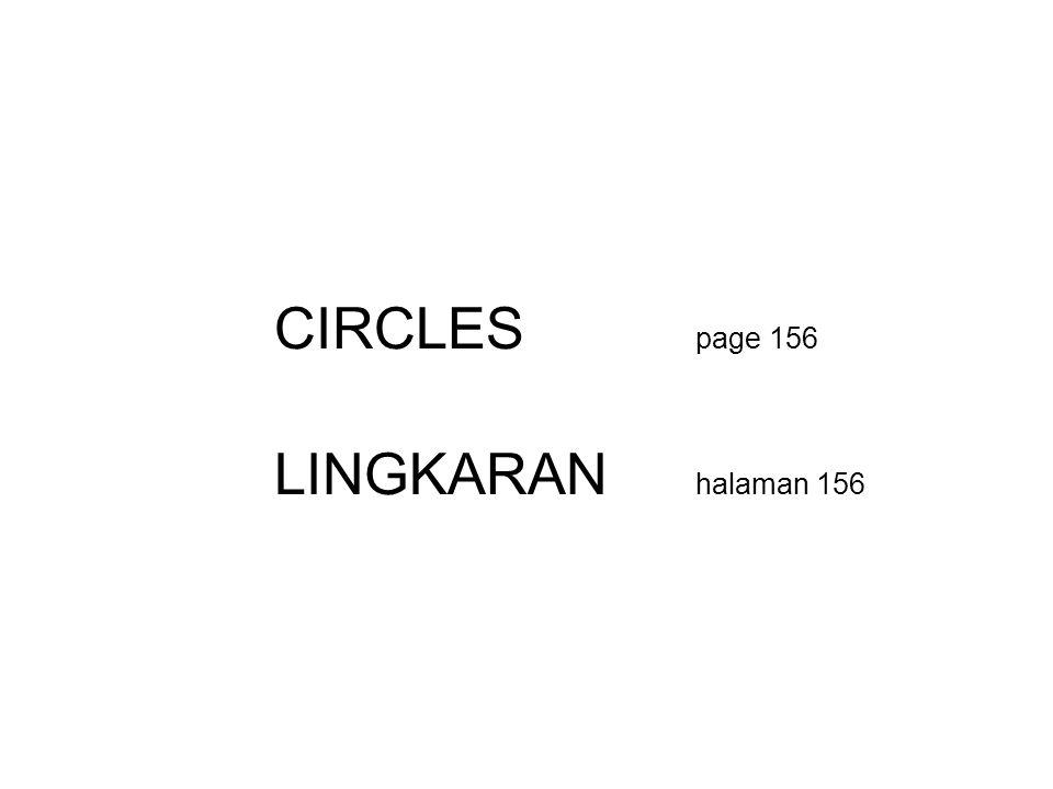 CIRCLES page 156 LINGKARAN halaman 156