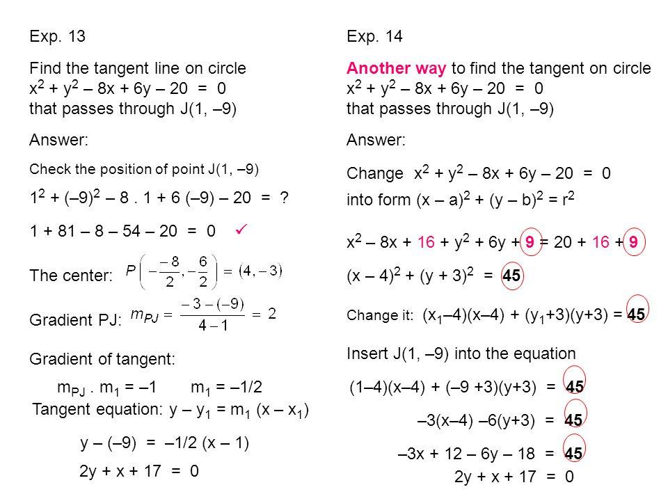 Change x2 + y2 – 8x + 6y – 20 = 0 into form (x – a)2 + (y – b)2 = r2