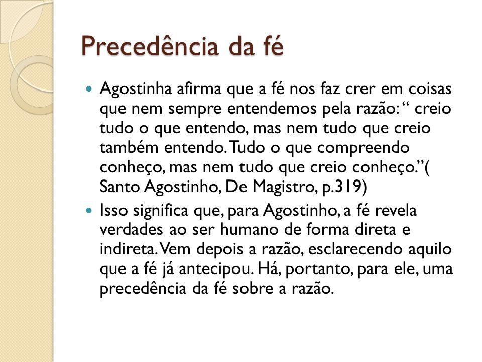 Precedência da fé