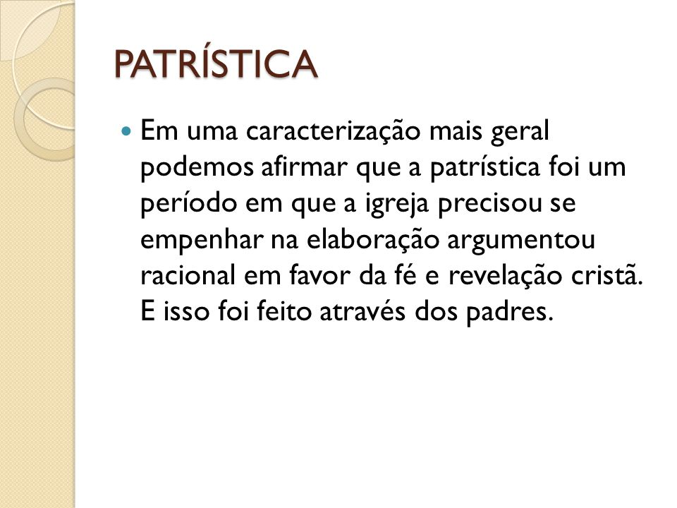 PATRÍSTICA