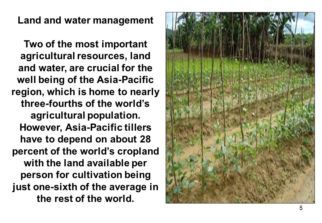 Land and water management