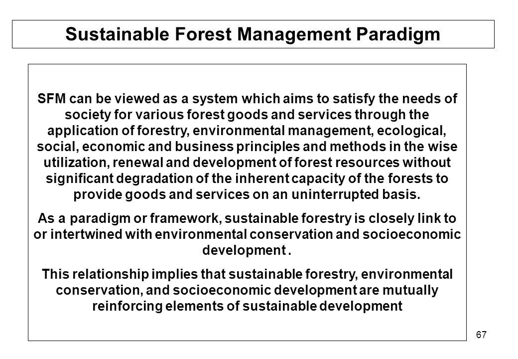 Sustainable Forest Management Paradigm