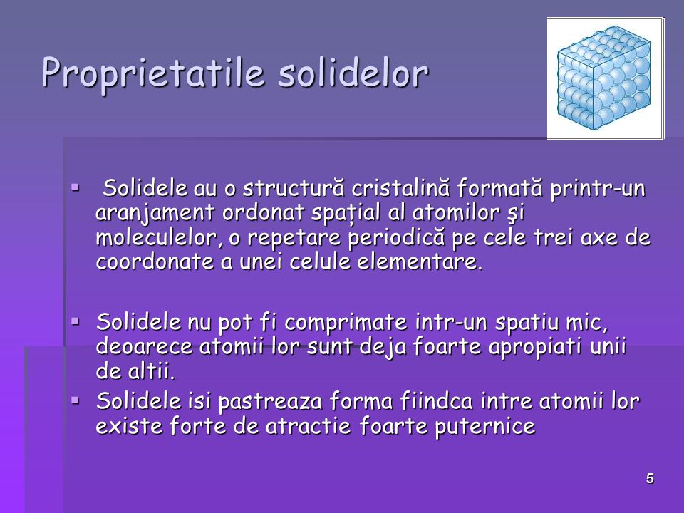 Proprietatile solidelor