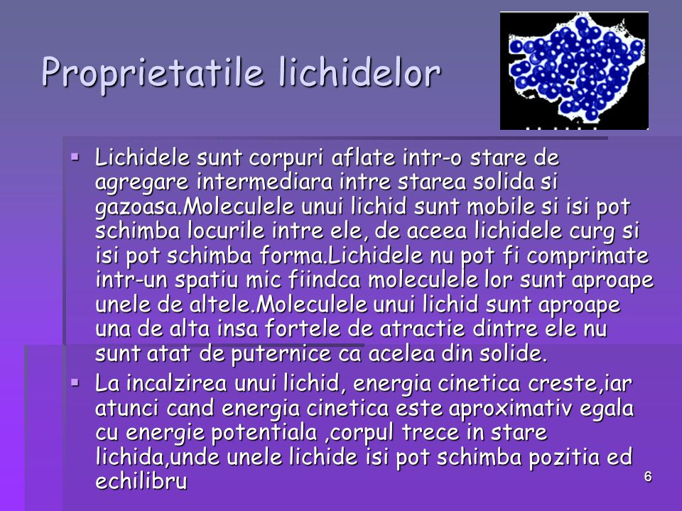 Proprietatile lichidelor