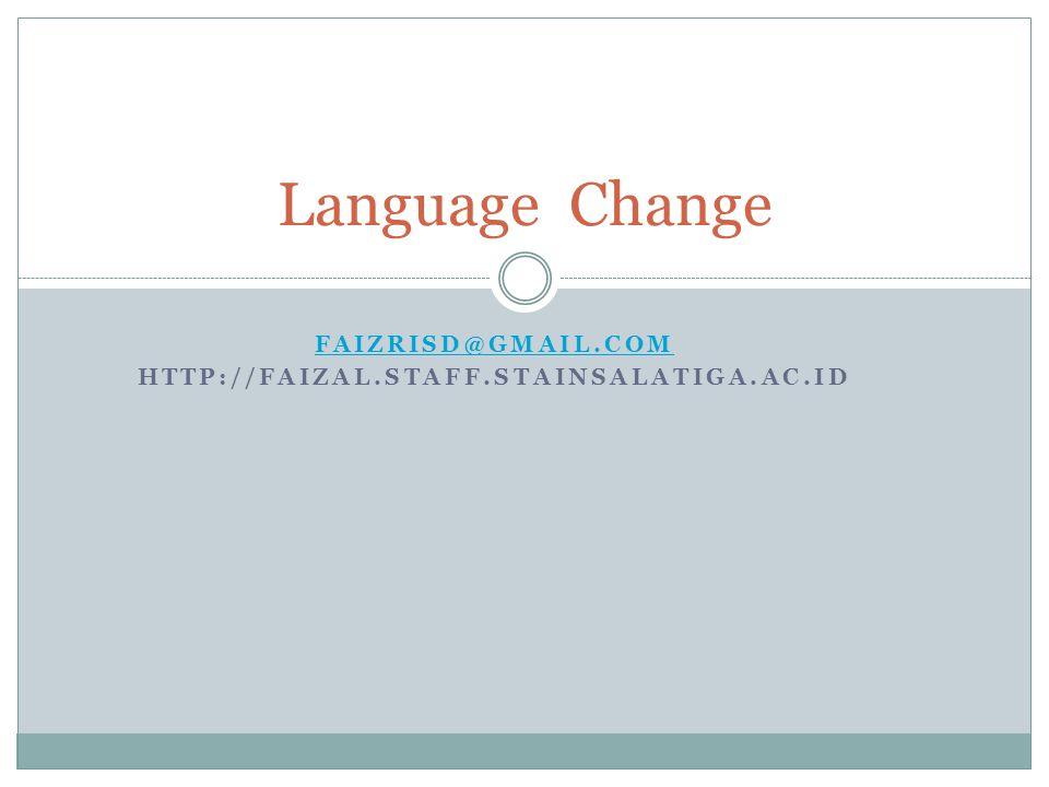 Faizrisd@gmail.com http://faizal.staff.stainsalatiga.ac.id