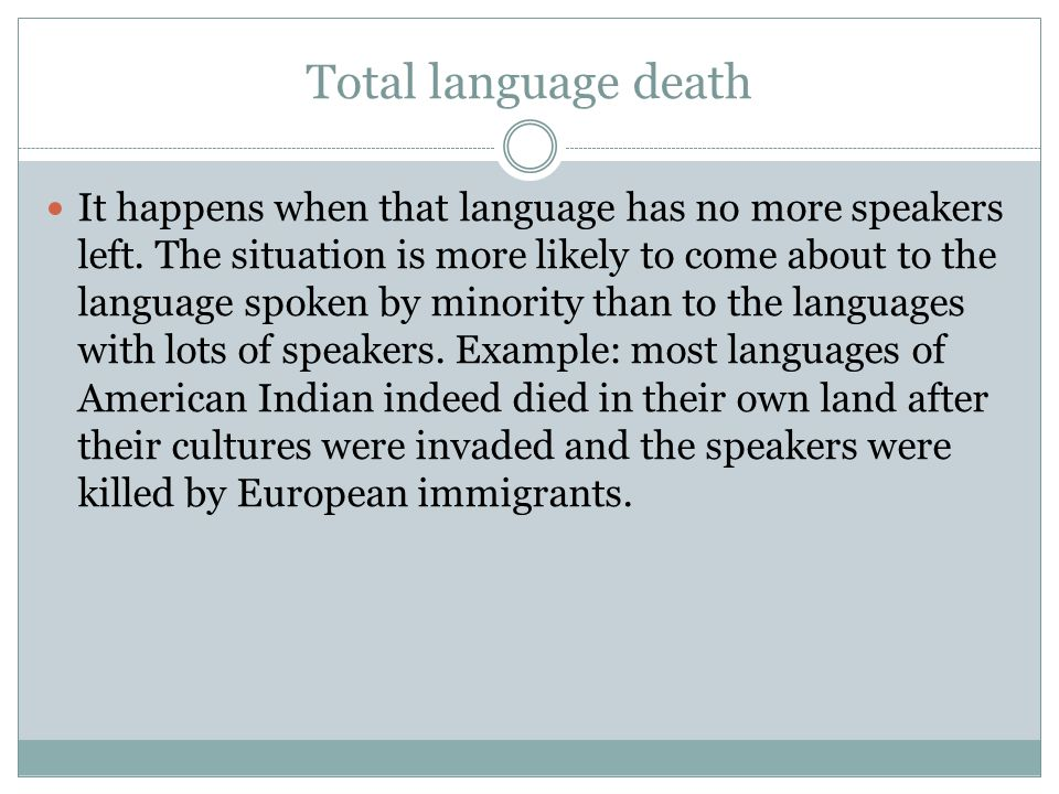 Total language death