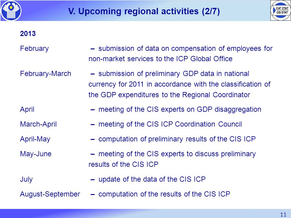 V. Upcoming regional activities (2/7)